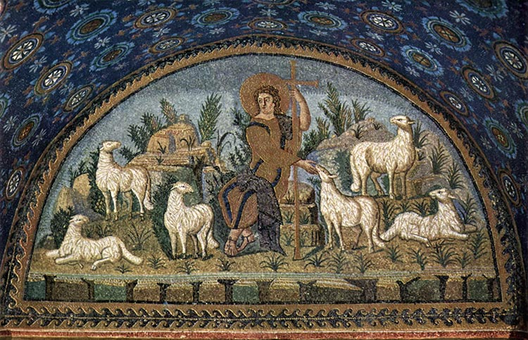 The Good Shepherd, from The Mausoleum of Galla Placidia, Ravenna, Italy
